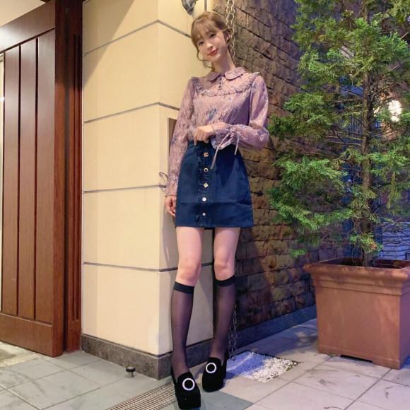 マルチ釦フリルスカート♡