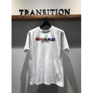 1PIU1UGUALE3 RELAX レインボー3DロゴTシャツ