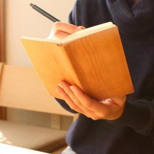 【記念品・大量ギフトにおすすめ☆】天然木の表紙がおしゃれなノートブック・メモ帳
