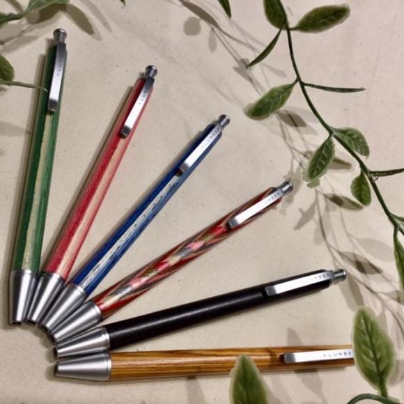 カラフルな木の表情を楽しむ携帯ボールペン