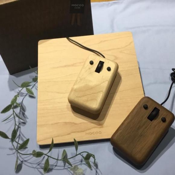 無垢材を削り出したかわいい木製マウス