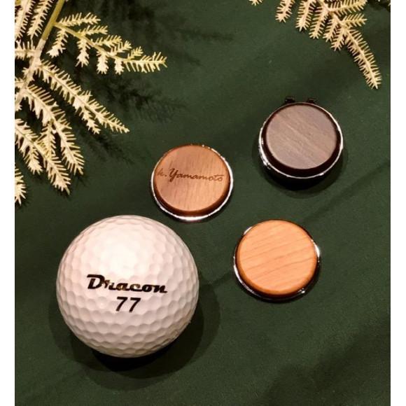 ゴルフが楽しくなる木製グリーンマーカー