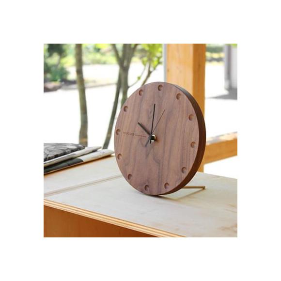 時と共に風合いを増す木製壁掛け・置き時計