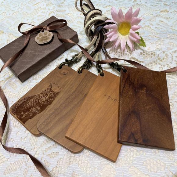 木でタッチするICパスケース・カードケース