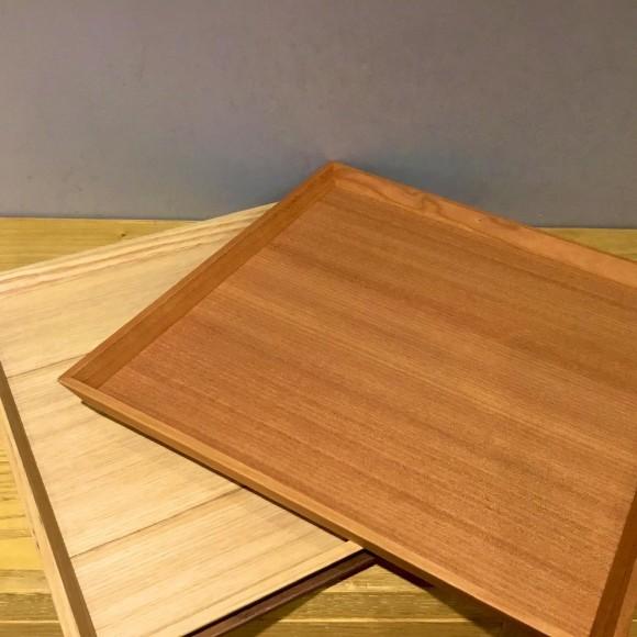 毎日使えるおしゃれな木製トレイ ~スクエアタイプ