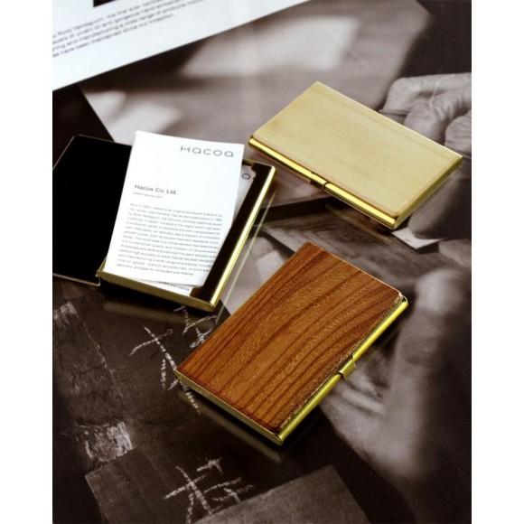 【20周年記念】使う程に愛着が生まれる国産材と真鍮の名刺入れ・筆箱