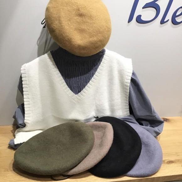 秋冬ベレー帽入荷