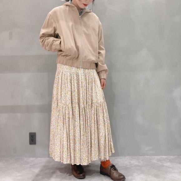 carpetサテンティアードスカート