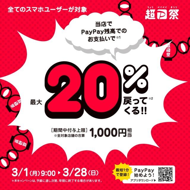 PayPayキャンペーン0301‐28