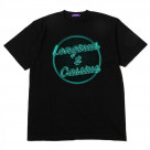 Longinus & Cassius Neon Sign T-Shirt (BLACK× GREEN)【10月中旬お届け】