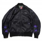 EVA-01 Flower Embroidery MA-1 (BLACK)【12月上旬お届け】