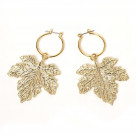 NERV Fig Leaf Earrings by Ayler (GOLD) 2個セット【12月中旬お届け】