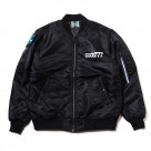 THE BEAST SOLID MA-1 JACKET (BLACK)【S.M:1月中旬お届け L:2月中旬お届け】