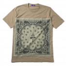 EVA-01 PAISLEYS BANDANNA T-Shirt (SAND KHAKI×BEIGE)【1月下旬お届け】
