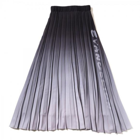 Gradation Pleated Skirt (ブラック)