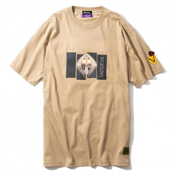 DAMAGED RATIO S/S T-Shirt(BEIGE(第10の使徒))