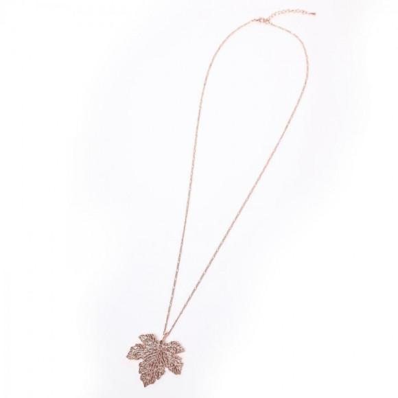 NERV Fig Leaf Necklace by Ayler (PINK GOLD) [the middle of December delivery]