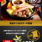 [期間限定] 羊肉サイコロステーキ定食販売中!