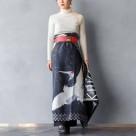 鶴マーブルラップ&カバースカート