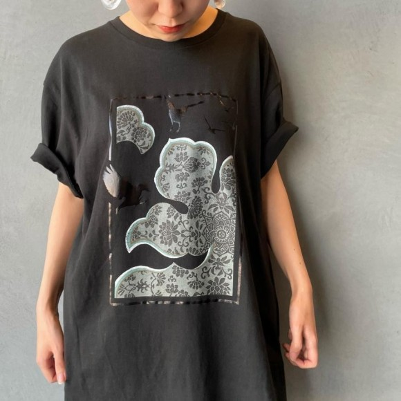 KIIRO foil T-shirt [forest of crow]