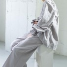 KBF relaxation back pocket WIDE pants