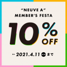 [Shibuya PARCO] Information for members Festa 10%OFF