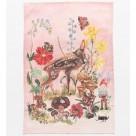 Nathalie Lete tea towel Bambi