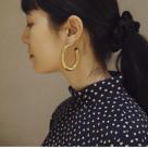 【LAURA LOMBARDI】カーブフープピアス CURVE EARRINGS