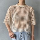 【AMOMENTO / アモーメント】 FLOWER LACE CROP TOP