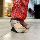 < UNITED NUDE : Delta Wedge Sandal >