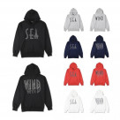 WIND AND SEA / SEA (wavy) HOODIE