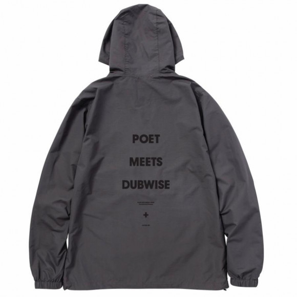 POET MEETS DUBWISE / LOGO ANORAK HOODIE