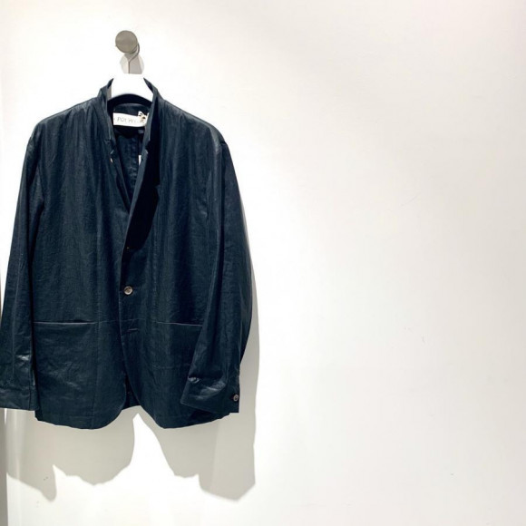 POLYPLOID/STAND COLLAR SUIT JACKET B