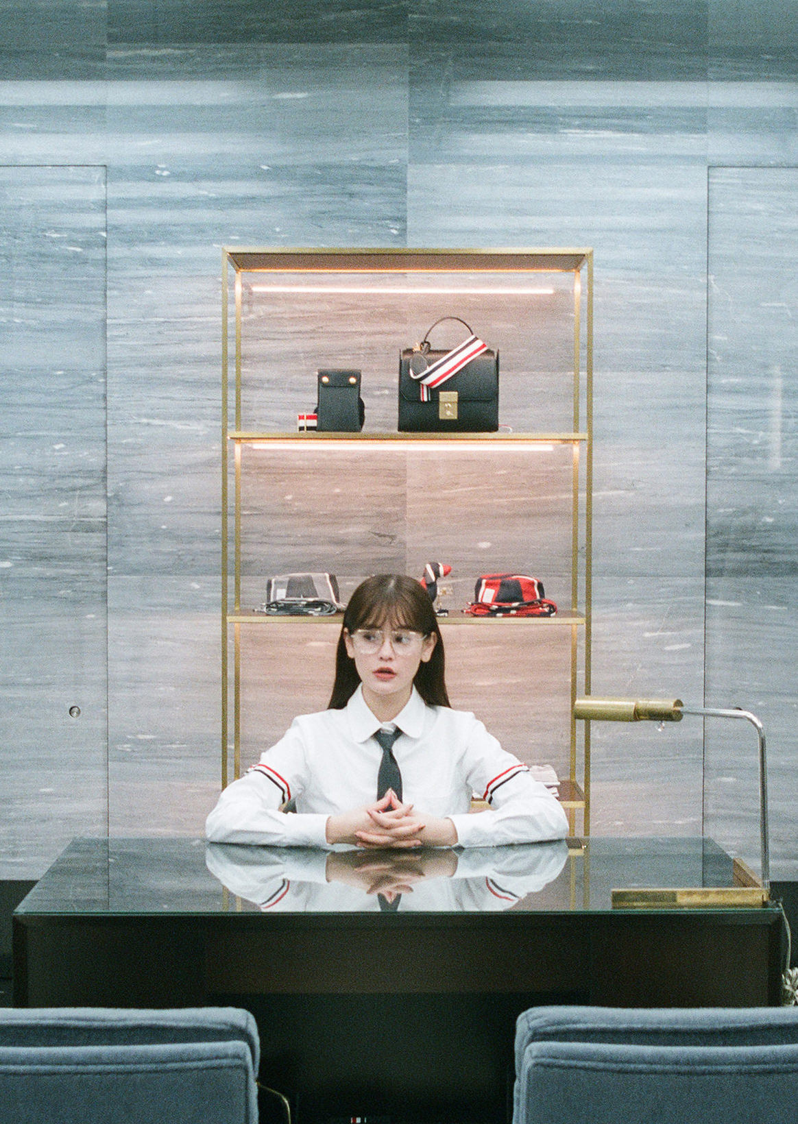 emma X THOM BROWNE | We mention discerning shop design and American traditional fashion that continues developing