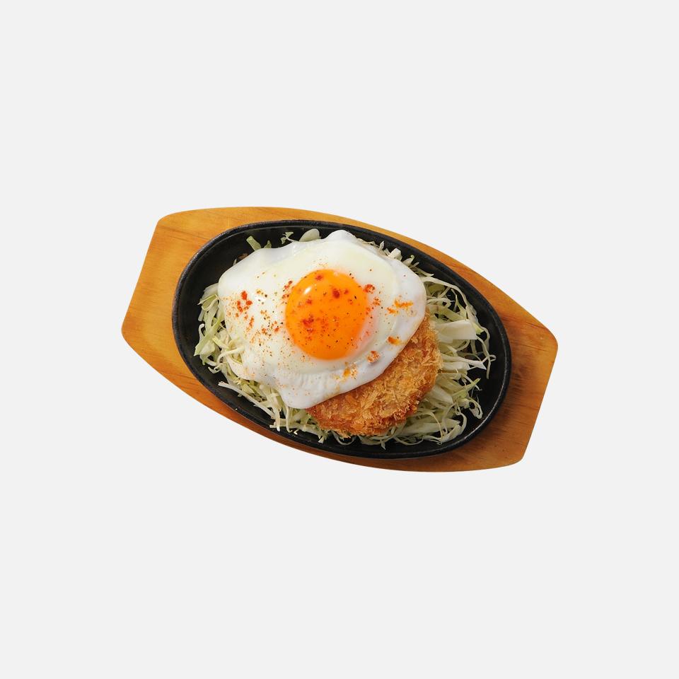 火腿炸肉排鸡蛋