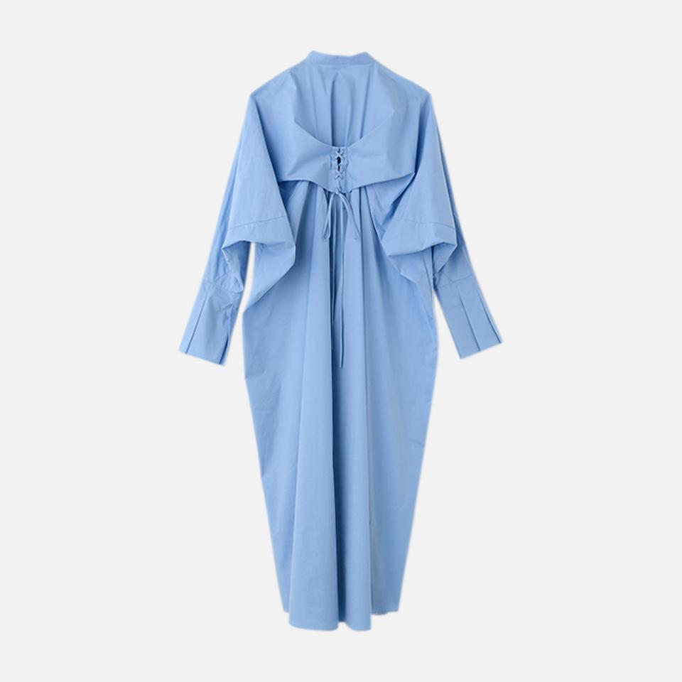 레이스업 셔츠 드레스