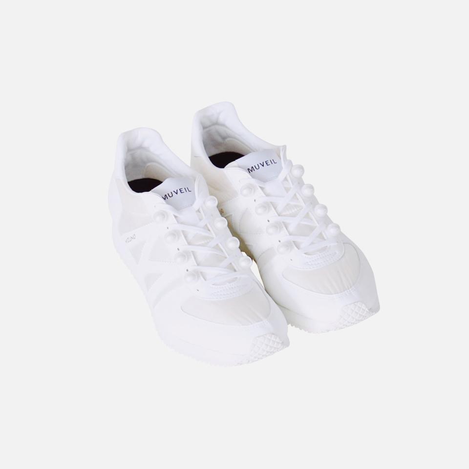 <MUVEIL×美津濃>珍珠運動鞋