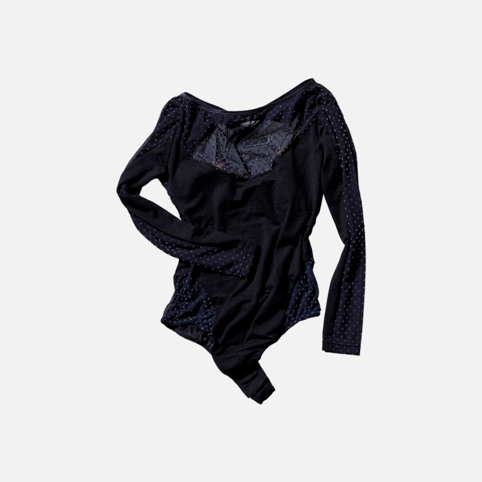 Iris Long Sleeve Open Back Body