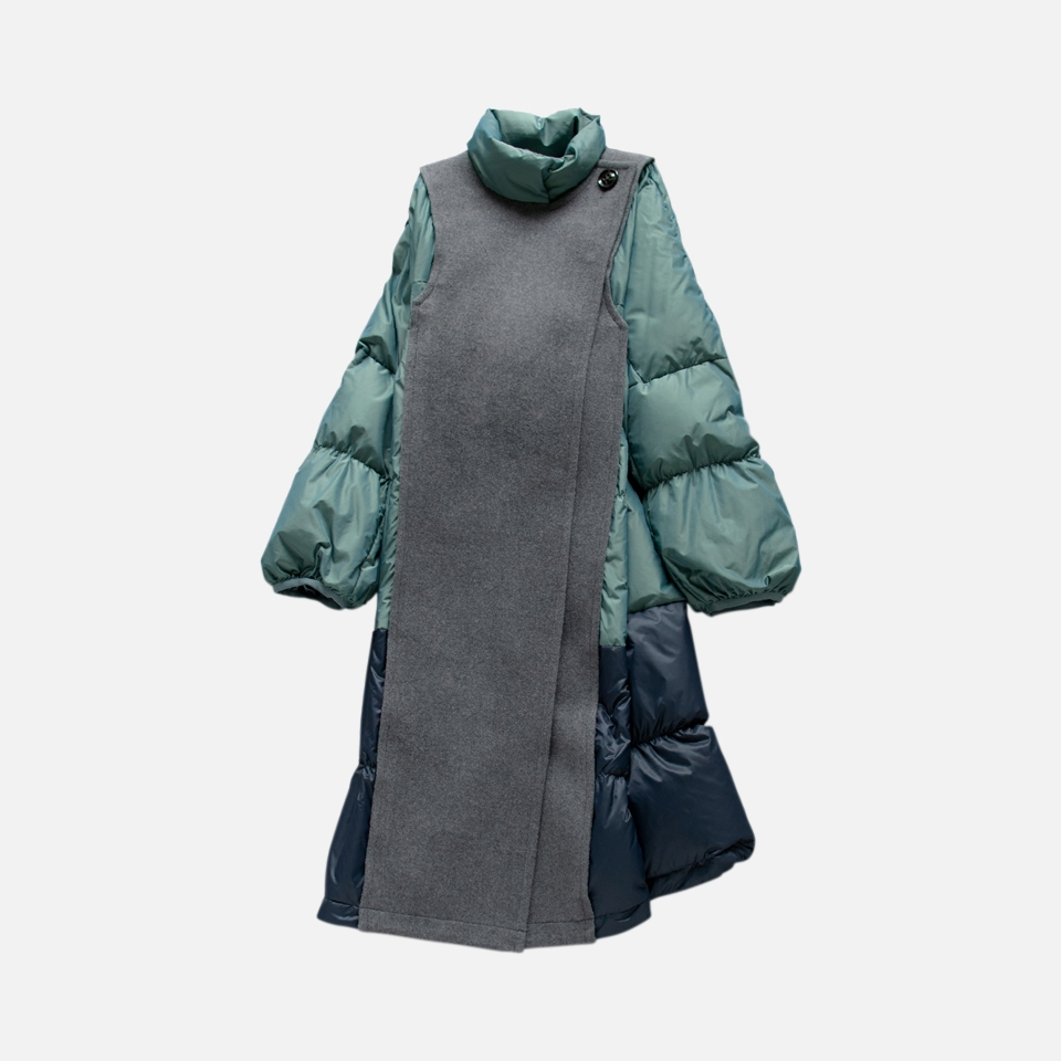 Melton × Down Coat