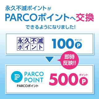 We came to be able to change permanently immortal point to PARCO point.