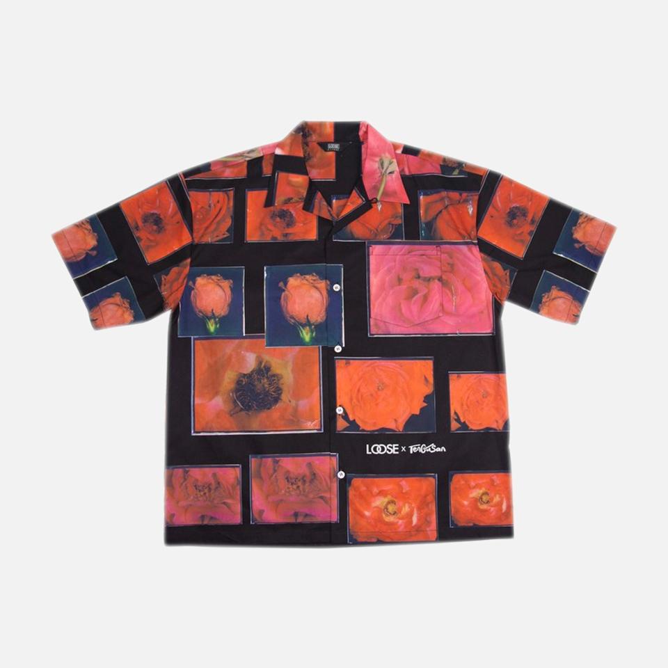 red flower aloha shirts