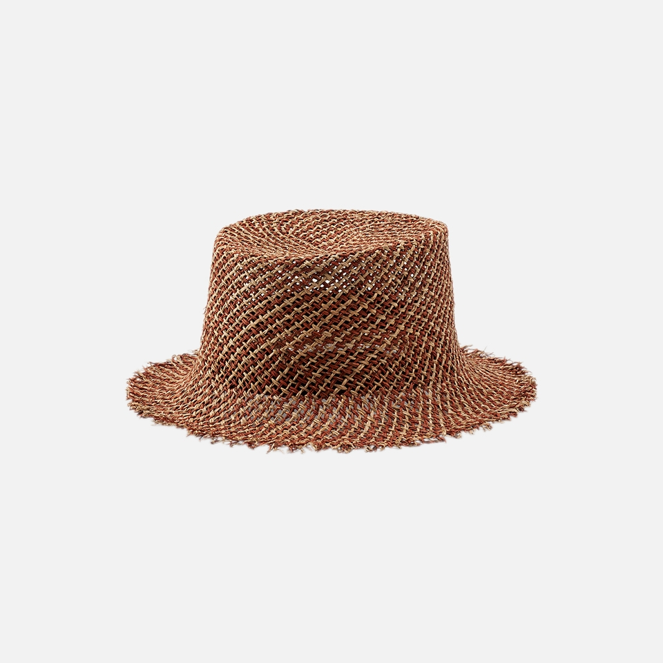 MIX RAFIA BUCKET HAT