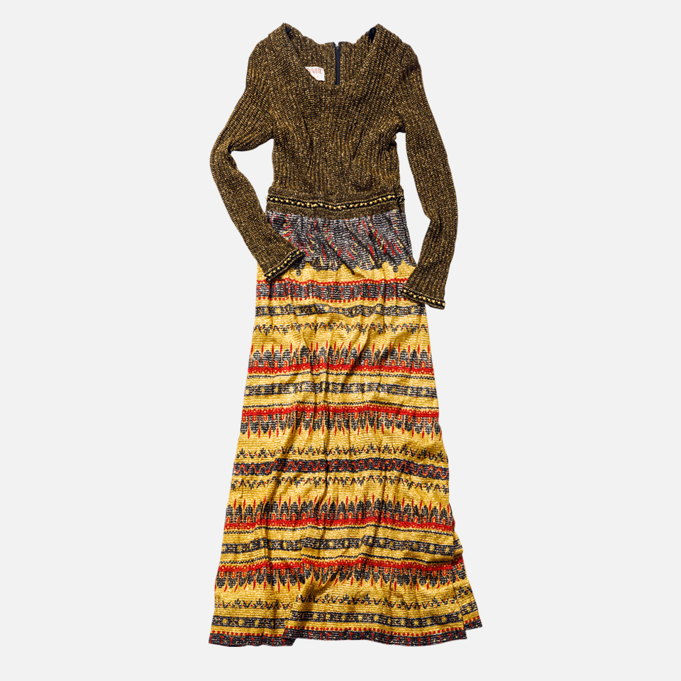 1970's Lame Knit Dress