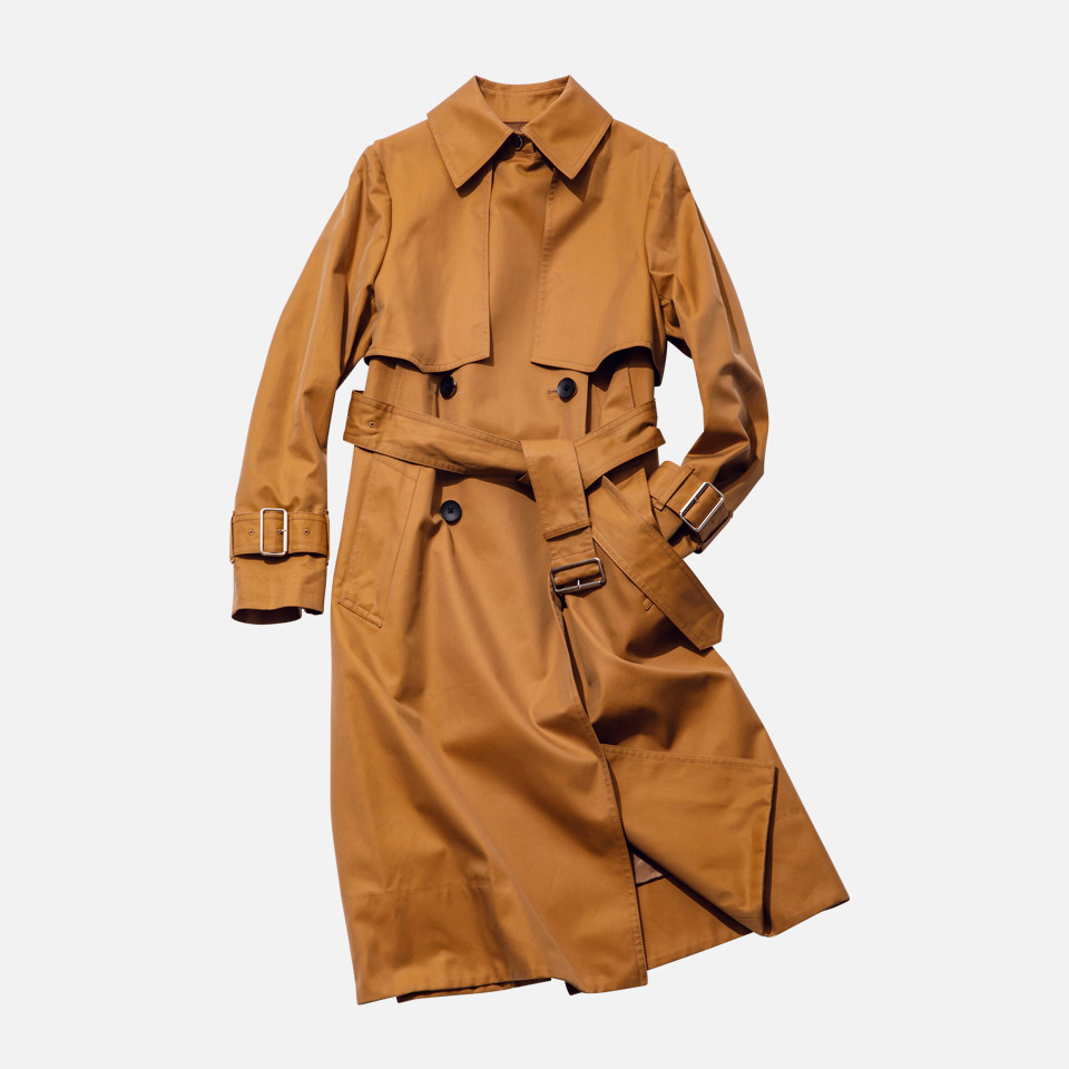 Finck's cotton basic trench coat