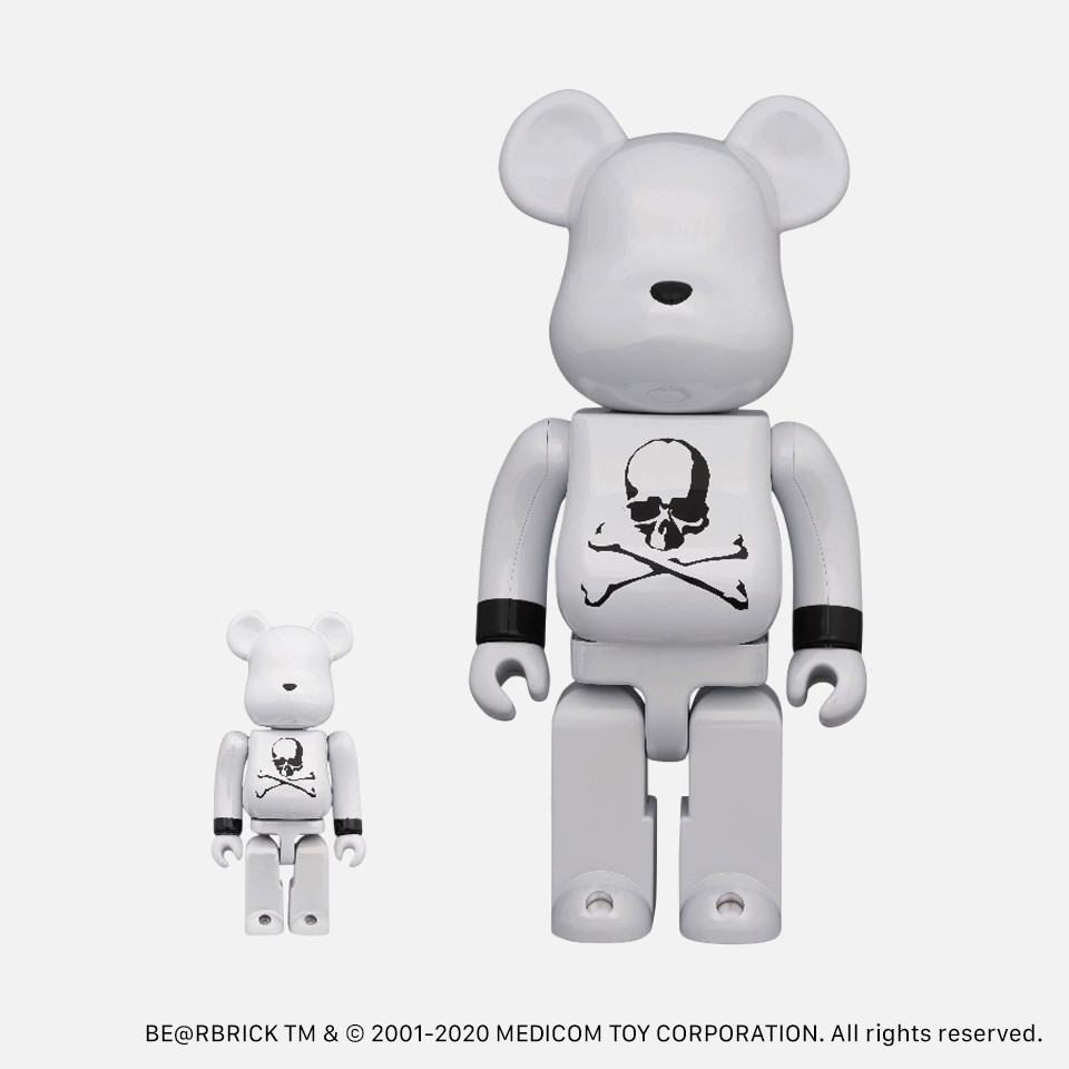 BE@RBRICK mastermind JAPAN WHITE CHROME Ver.