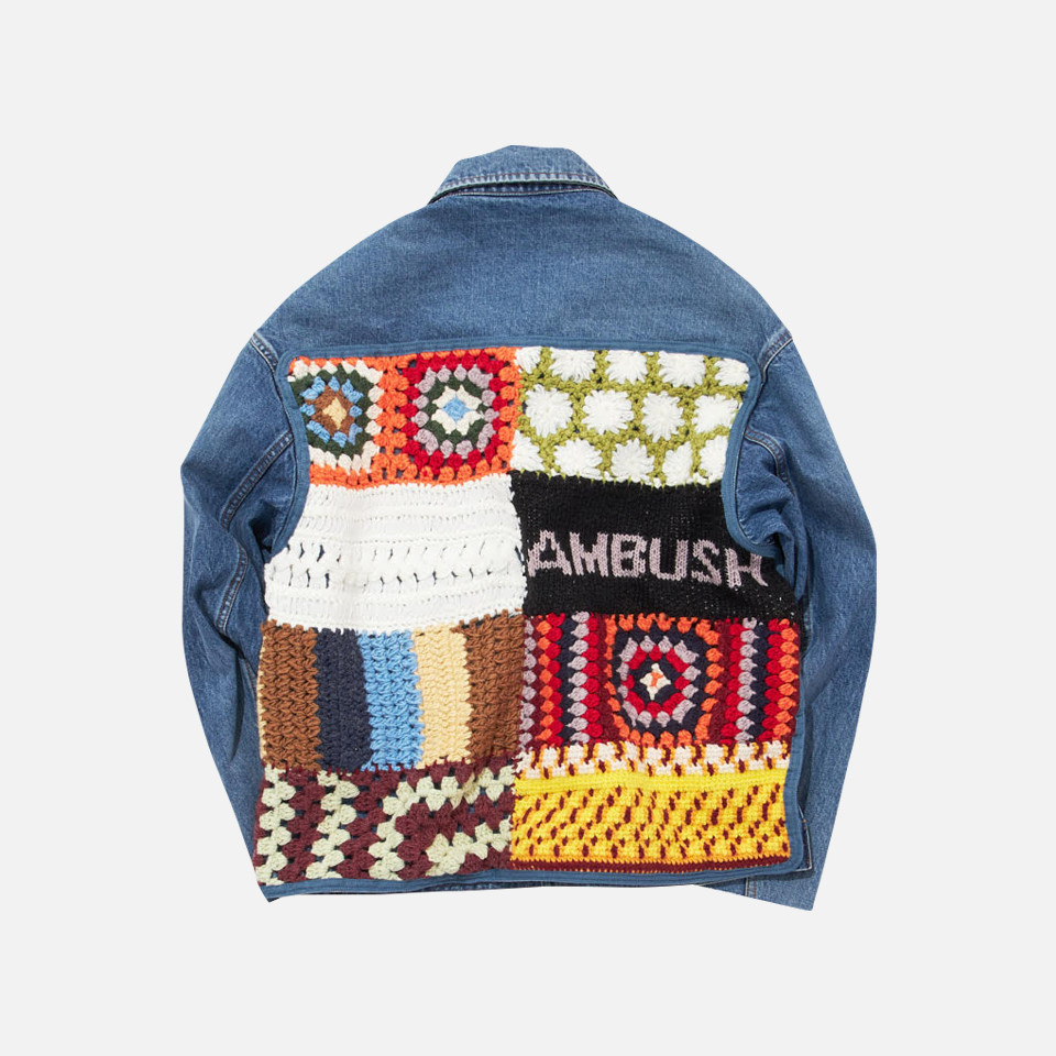 KNITPATCH DENIM JACKET