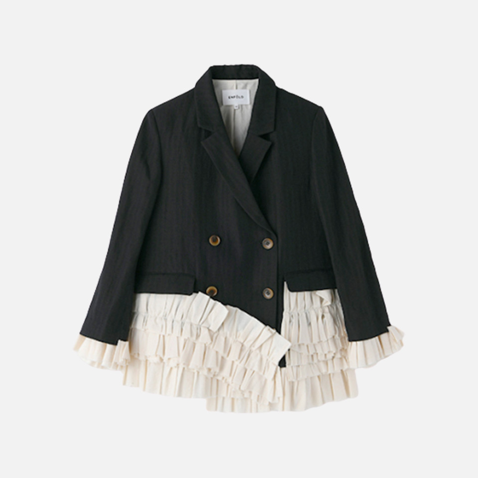 It is phosphorus Bonn frill COMBI jacket to W/Li
