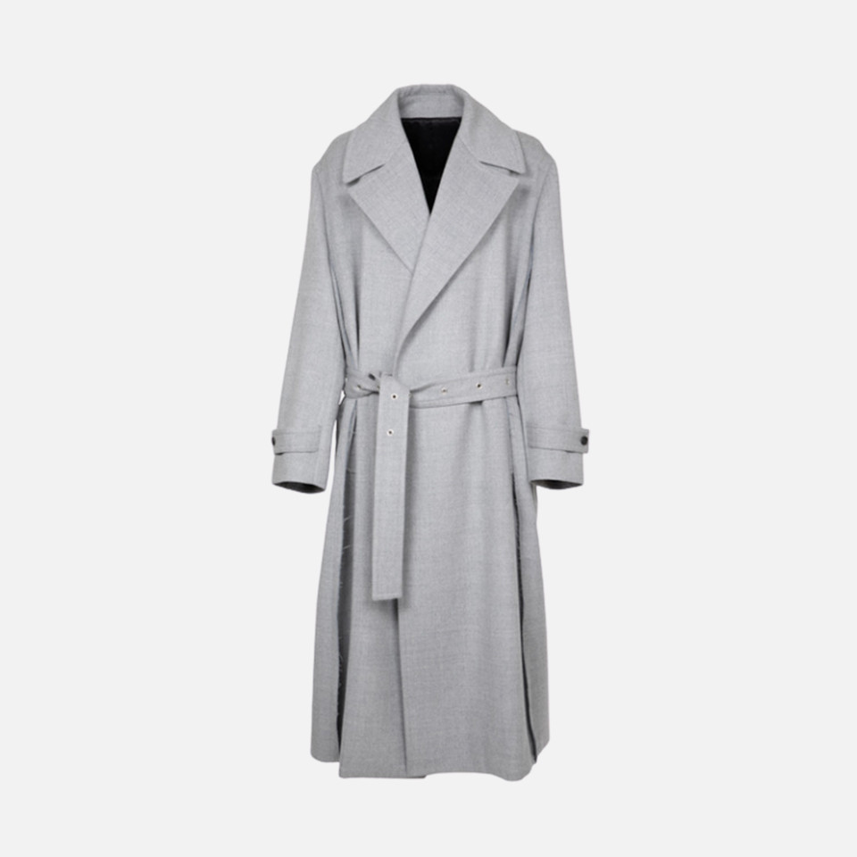 WOOL CHECK LONG COAT/WOOL LONG COAT
