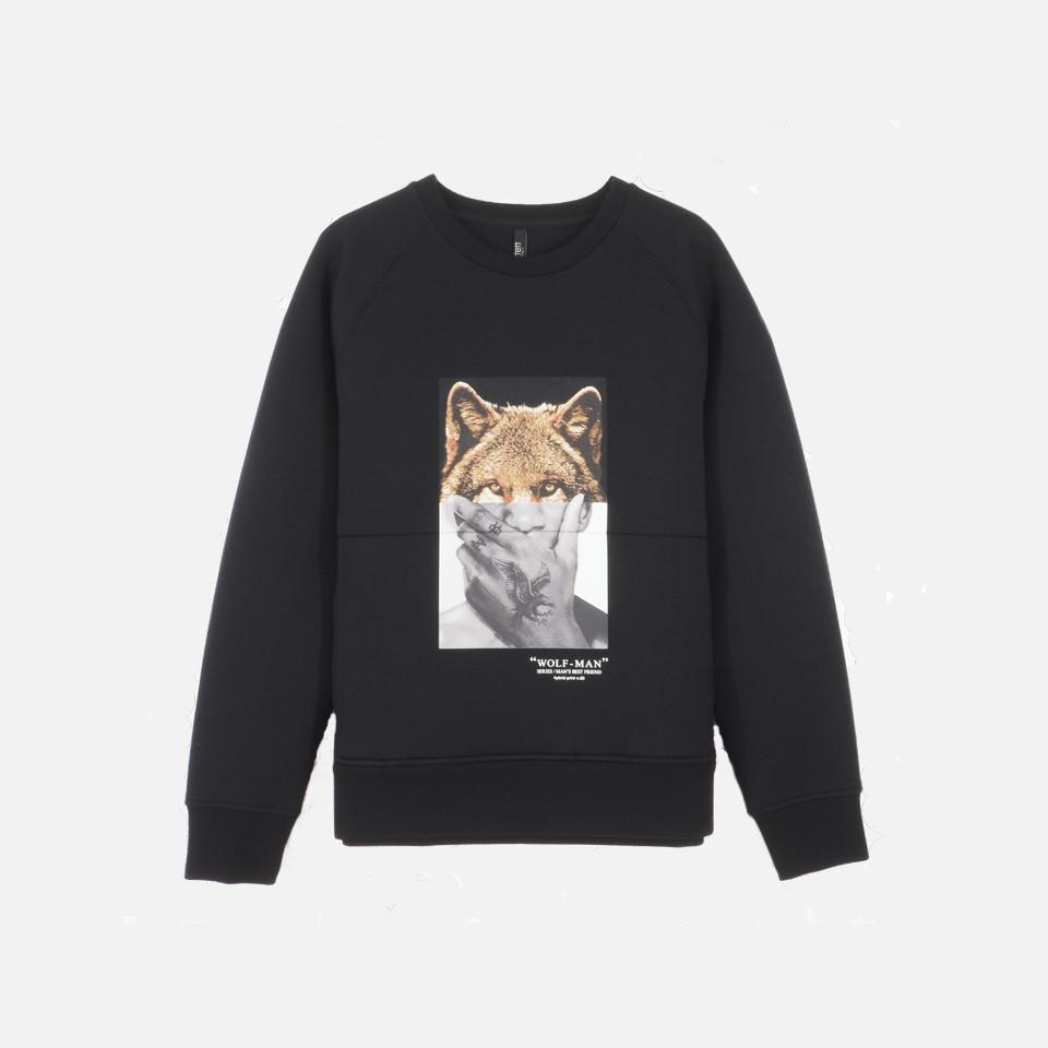 """Wolfman"" print Bonn dead sweat shirt"