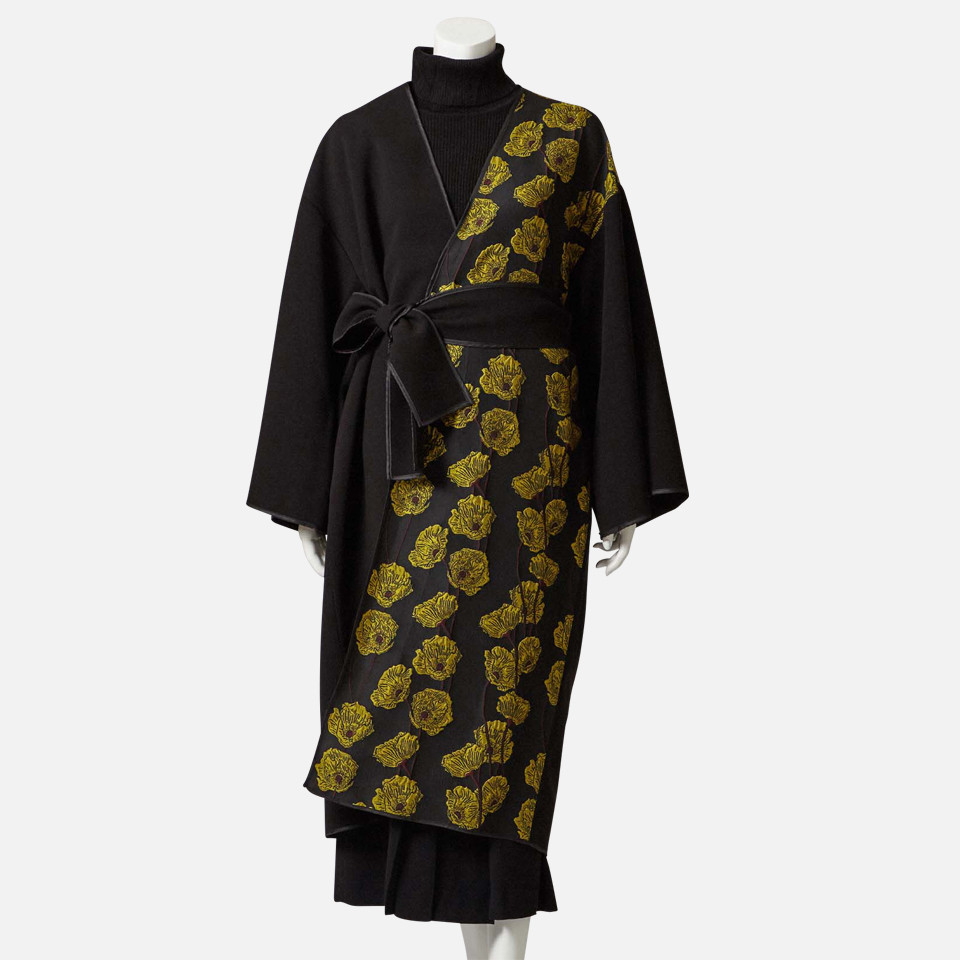 Flower jacquard gown